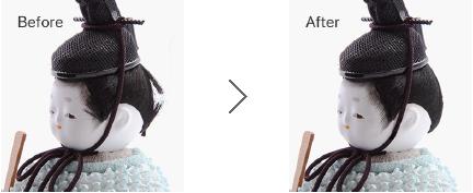 髪の乱れ直しのサンプル